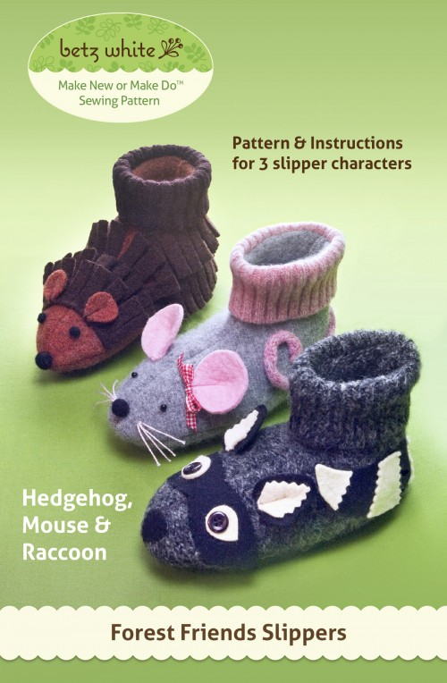 Forrest Friends Slippers Sewing Pattern