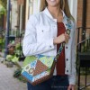 Hex Messenger Bag in Stitch Fabric by Betz White