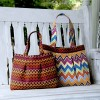 Isabella Tote Bag in Stitch Fabric by Betz White