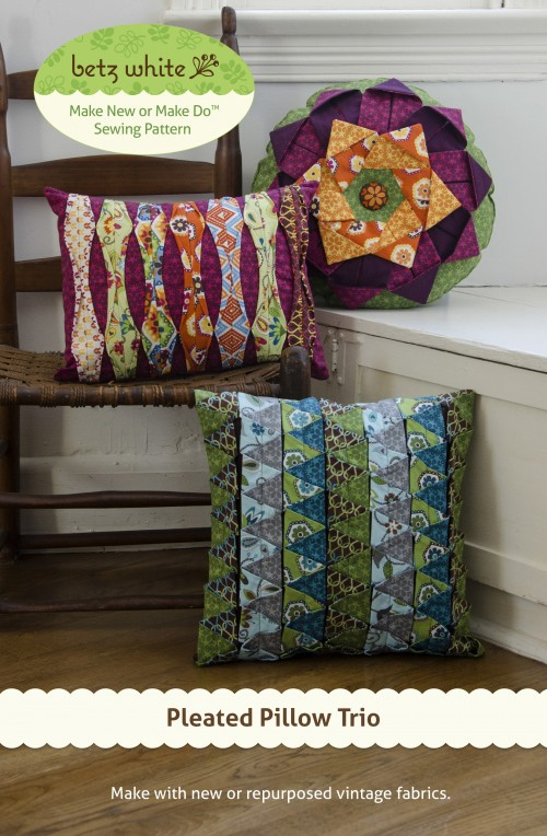Pleated Pillow Trio Sewing Pattern