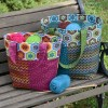 Stitchalong Tote Bag in Stitch Fabric by Betz White
