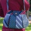 """Make-Do"" verson of Caitlyn Handbag made with vintage neck ties"