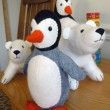 Flurry and Fluff Polar Bears with Poppy and Pip Penguin