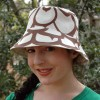 Bucket Hat in Mod Max Pine Cone Fabric by Betz White