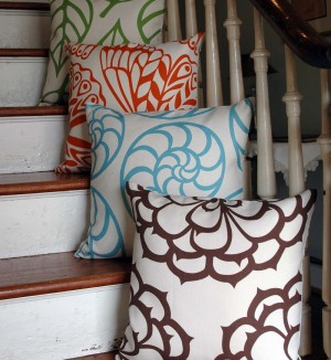 Pillows in Betz White Mod Max fabric