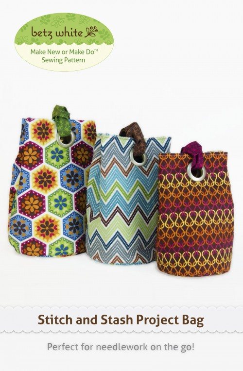 Stitch & Stash Project Bag sewing pattern by Betz White