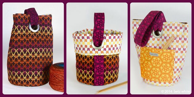 Stitch & Stash Project Bag shown in three modes