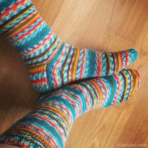 winter sock knitting - Betz White