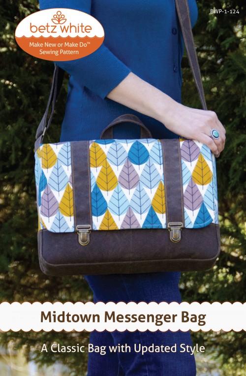 Betz White Midtown Messenger Bag - Sewing Pattern