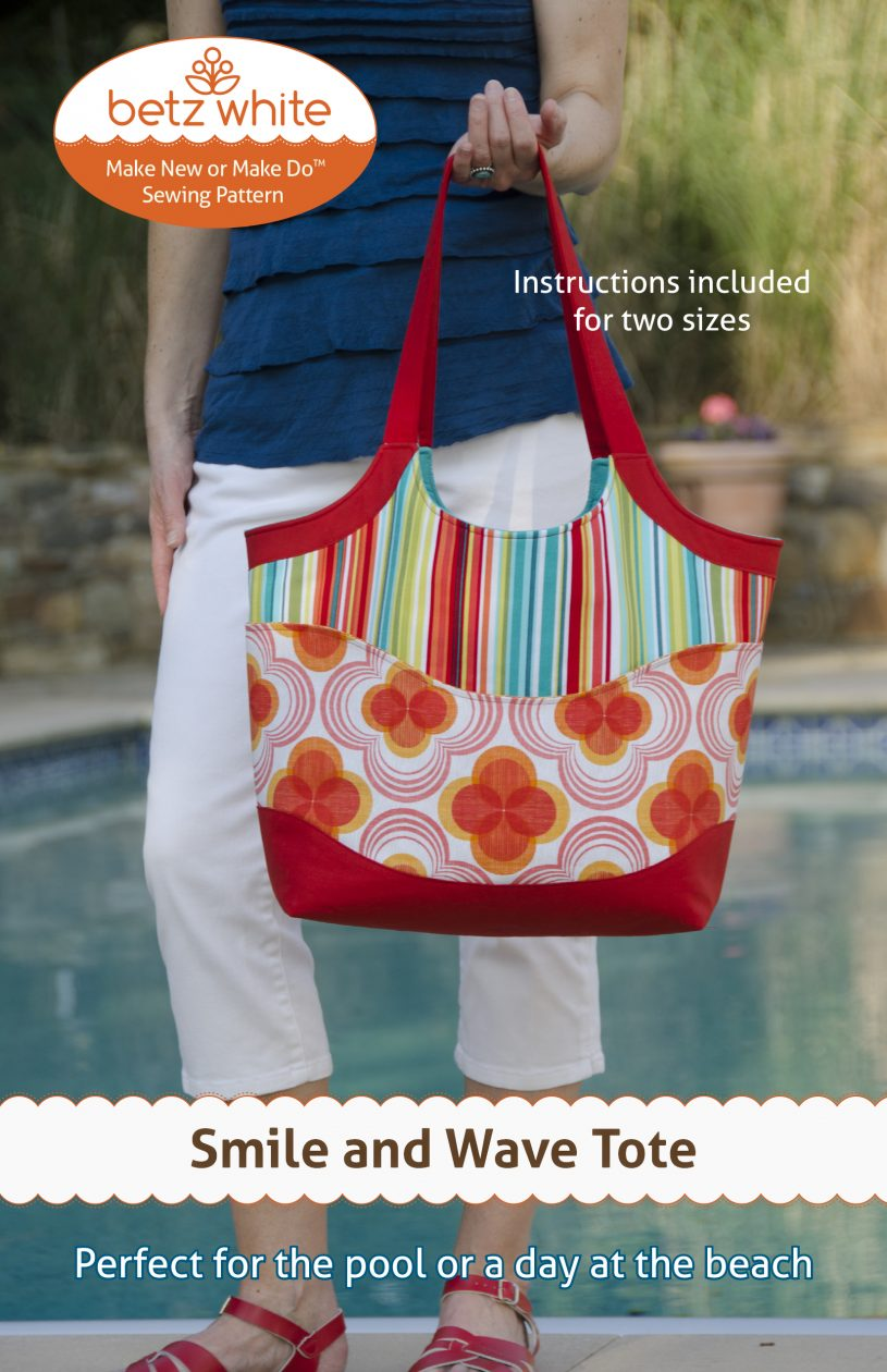 Smile and wave tote bag betz white betz white smile and wave tote bag sewing pattern jeuxipadfo Gallery
