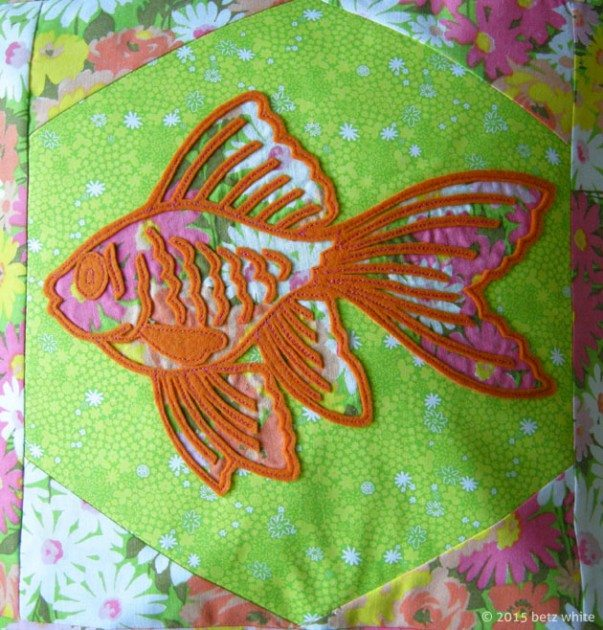 betz white fish appliqué pillow