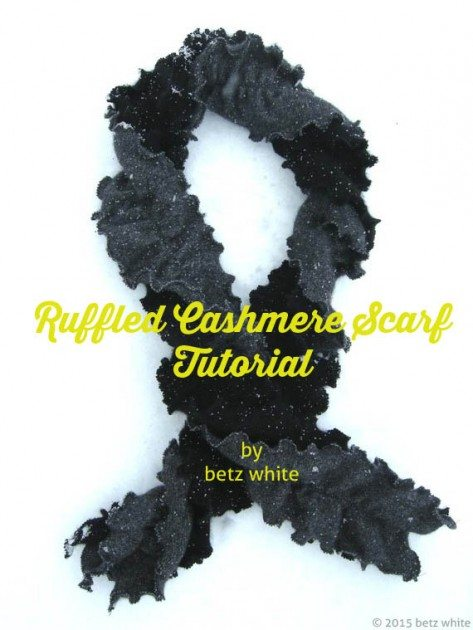betz white ruffled cashmere scarf tutorial
