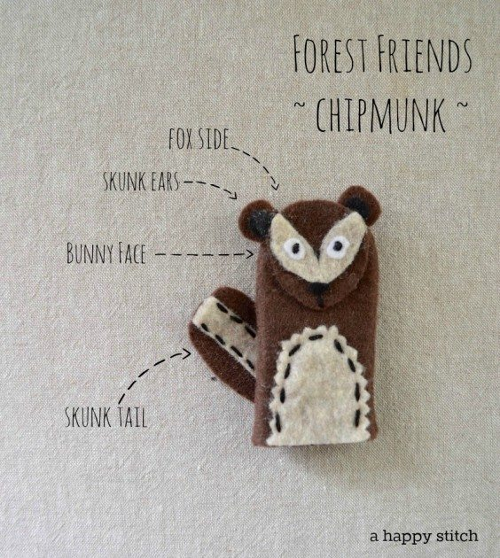 Forest Friends Chipmunk Puppet