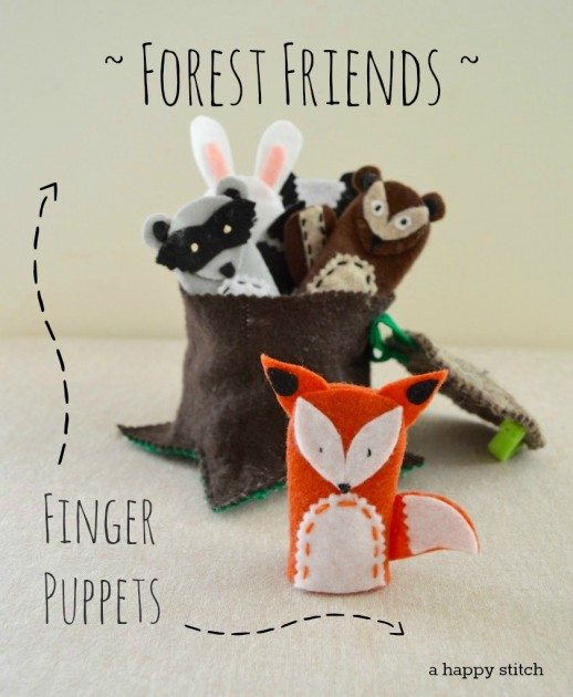 Forest Friends Finger Puppets by Betz White