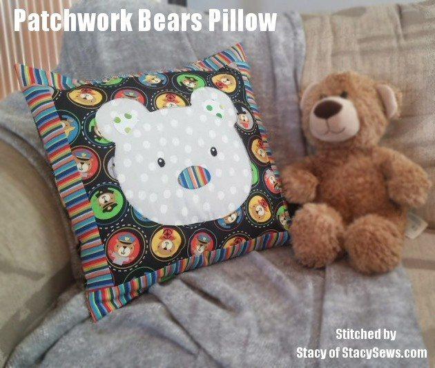 Patchwork Bear Pillow