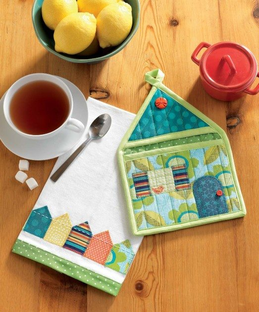 Present Perfect - Hot Mitt House & Tea Towel Set