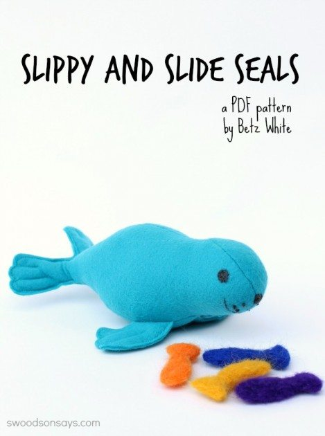 Slippy and Slide Seal pattern by Betz White