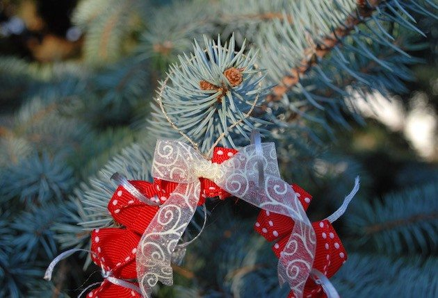 Origami Wreath Ornament