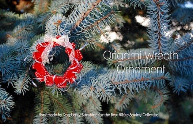 Origami Wreath Ornament - betz white