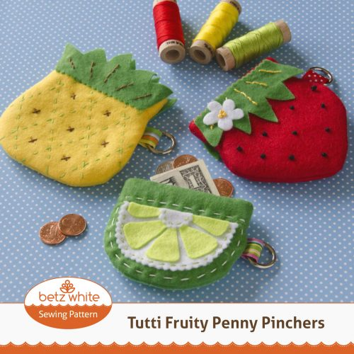 Betz White Penny Pinchers Coin Pouch Sewing Pattern