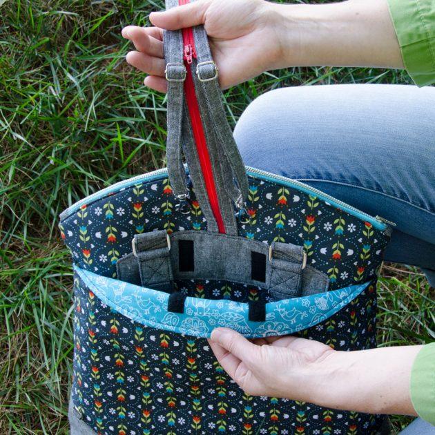 Betz White Highline Tote strap