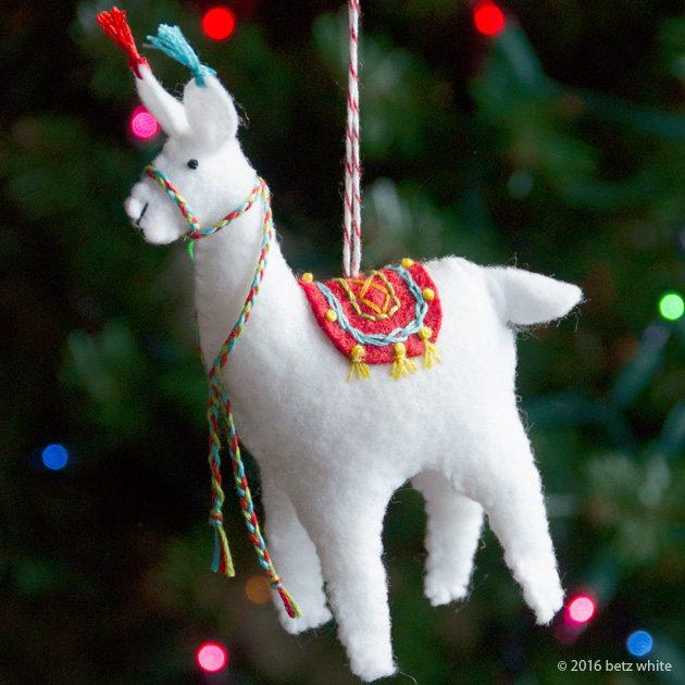 Holiday Stitch-along Ornament Club #2: Fa La La La Llama! - Betz White