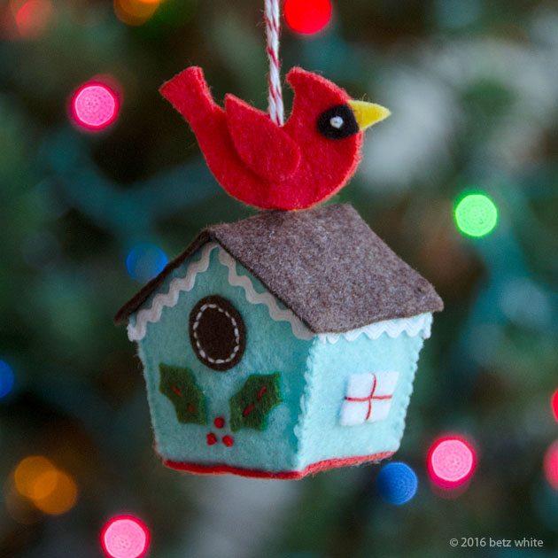 HSOC Betz White birdhouse-ornament