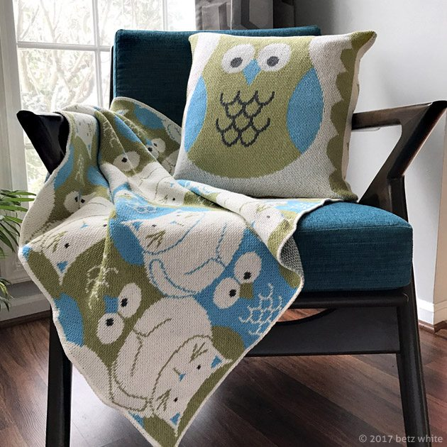 Owl and Pussycat Eco-tot Blanket Betz White