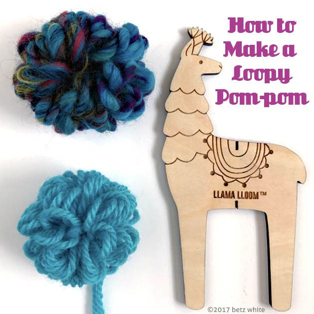 loopy poms tutorial betz white