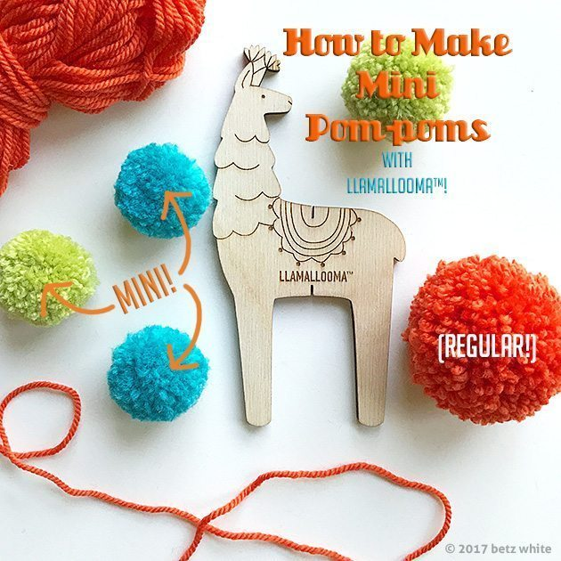 Mini Pompom Tutorial betz white