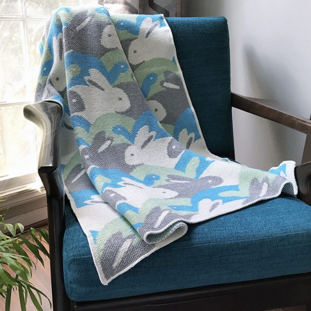 Betz White Studio Knits Tortoise and Hare eco-tot throw