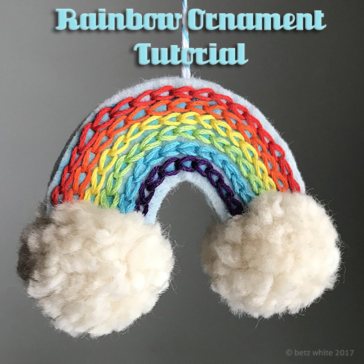 Betz White Rainbow Ornament Tutorial