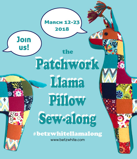 Patchwork Llama Sewalong with betz white