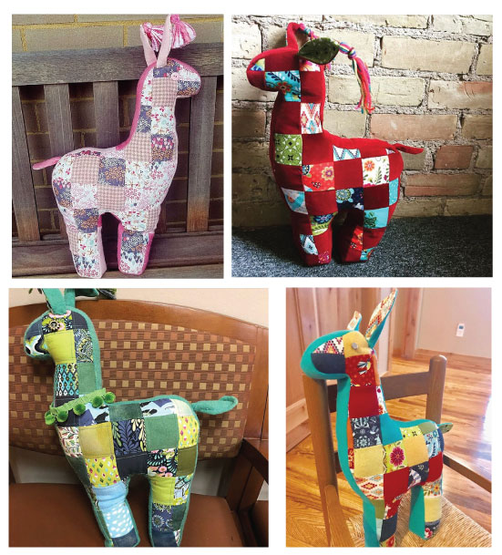 Patchwork Llama collage by Betz White