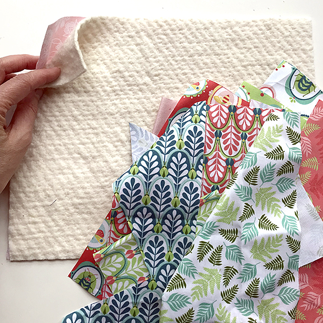 Entomologie fabric mug rug tutorial by Betz White - base layers