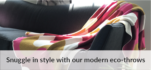 Modern Eco Throws by Betz White