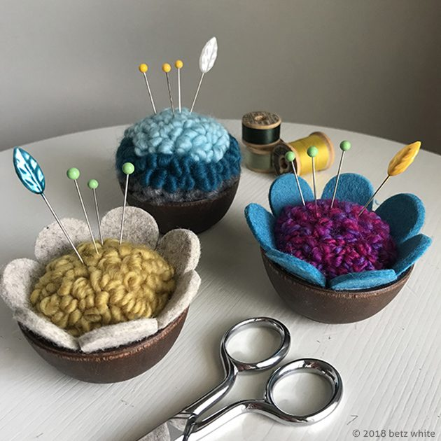 Betz White Punch Needle pincushions