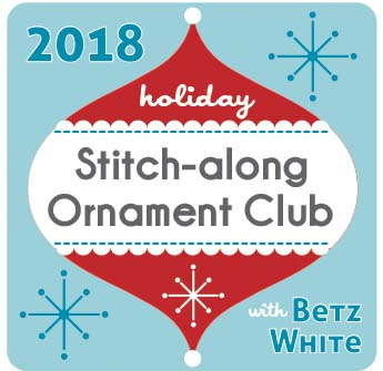 Holiday Stitch-along Ornament Club Logo Betz White