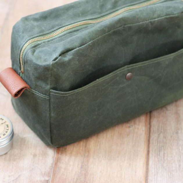 Waxed Canvas Travel Kit by Radiant Home