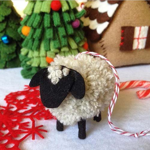 betz-white-pompom-sheep ornament