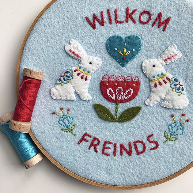 Wilkom bunny applique betz white