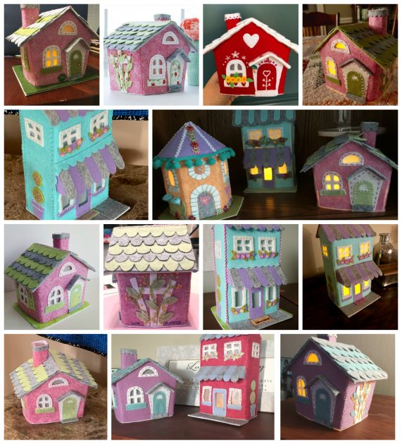 Lil Felt Village Make-along Club members collage