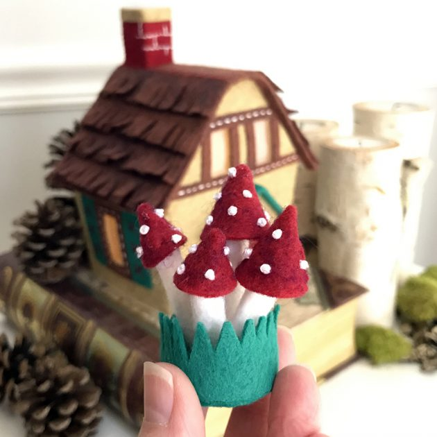 Woodland Cottage toadstools by Betz White