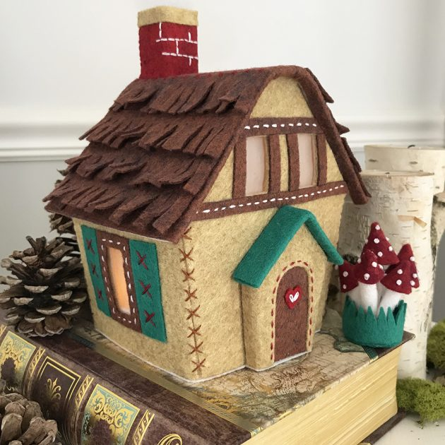 Lil Felt Village woodland-cottage-Betz White