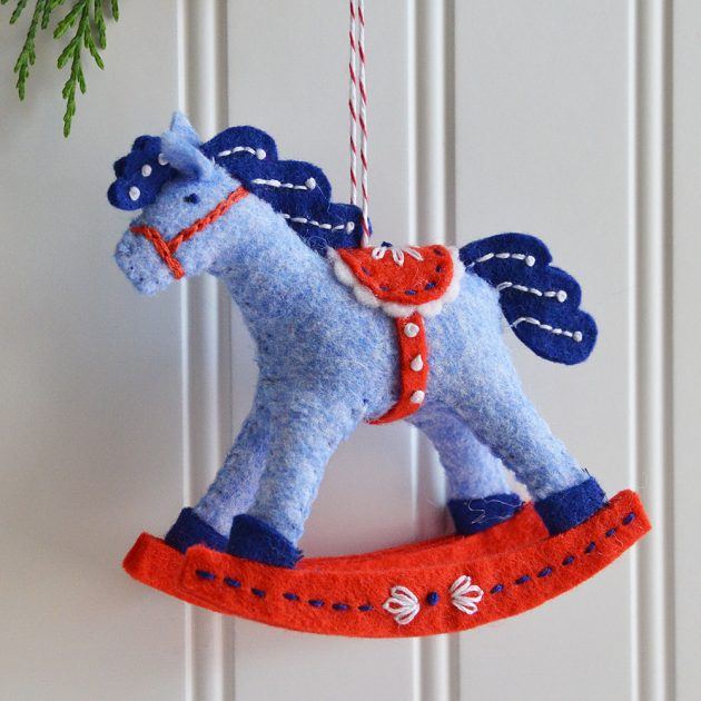 2019 Rocking Horse Ornament by Betz White