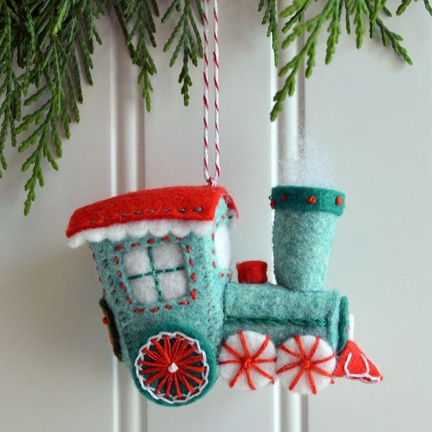2019 Toy Train Ornament by Betz White