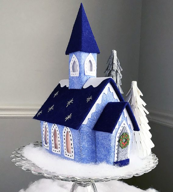 Lil Felt Village Church by Betz White