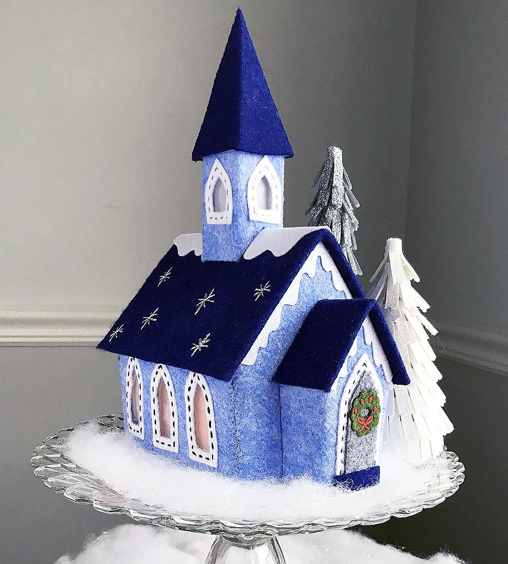 Lil Felt Village Church by Betz White