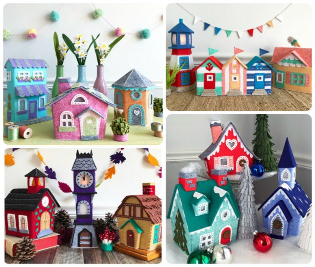 Lil Felt Village 4 seasons by Betz White