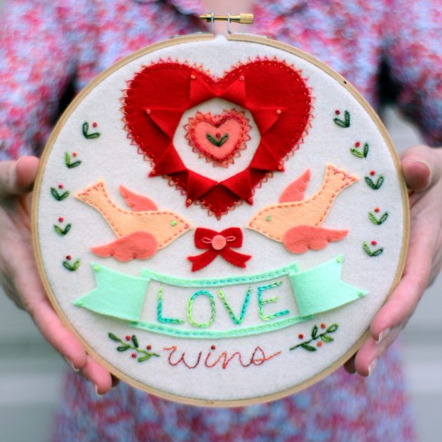 love-wins-embroidery by betz white